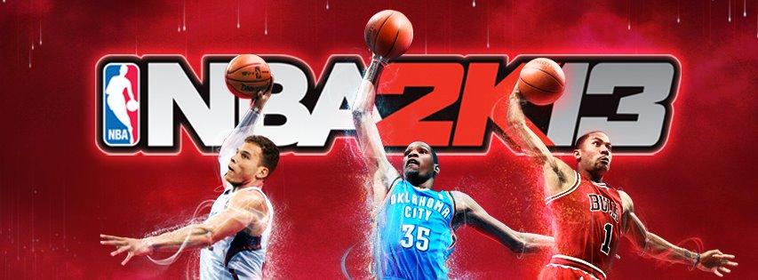 A capa do NBA2k13 traz Blake Griffin, Kevin Durant e Derrick Rose juntos