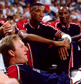Pippen e Bird reconheceram publicamente a superioridade dos colegiais no amistoso contra o Dream Team.