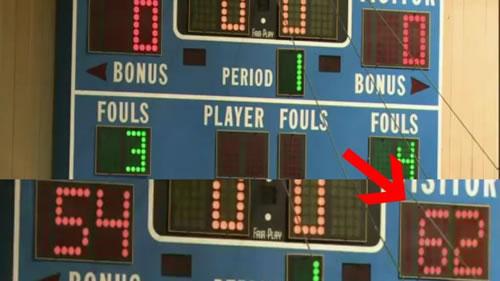 O placar final do amistoso entre os colegiais e o Dream Team foi imediatamente apagado a pedido de Chuck Daly.