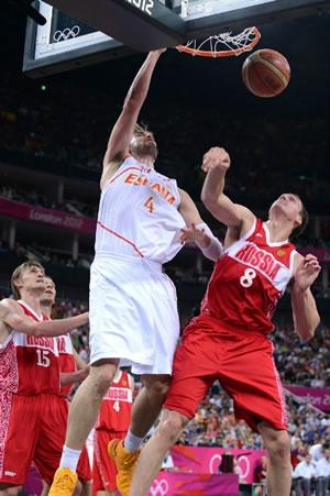 Pau Gasol levou a Espanha pela 2ª vez seguida à final do basquete masculino dos Jogos Olímpicos. (Crédito: AP)